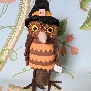 New Hyde & Eek Halloween Felt Fabric Owl Decor
